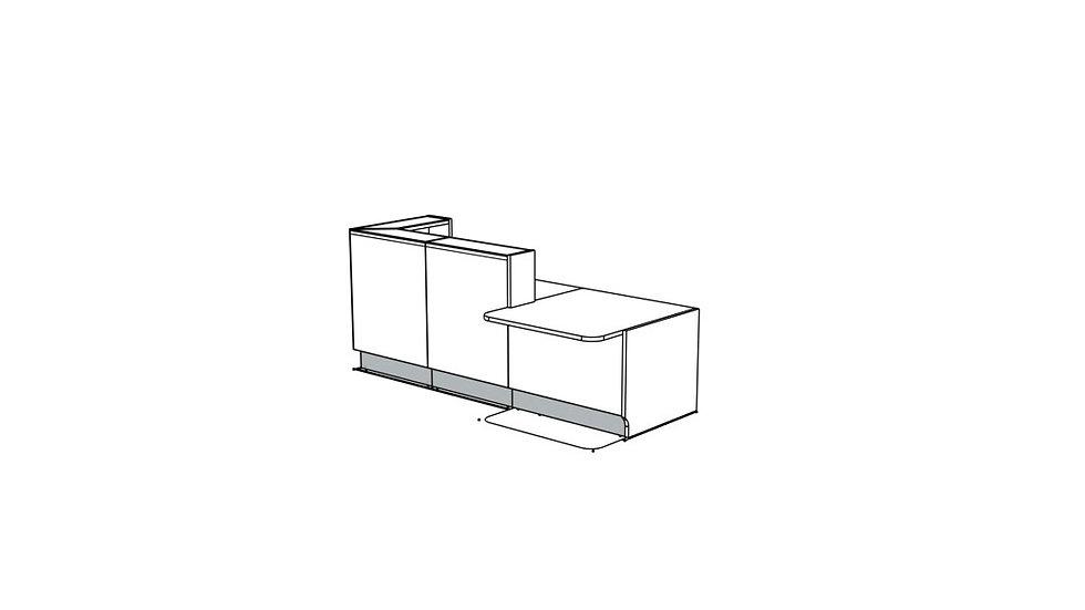 "LINEA Reception Desk LIN35L - 104 3/8"""
