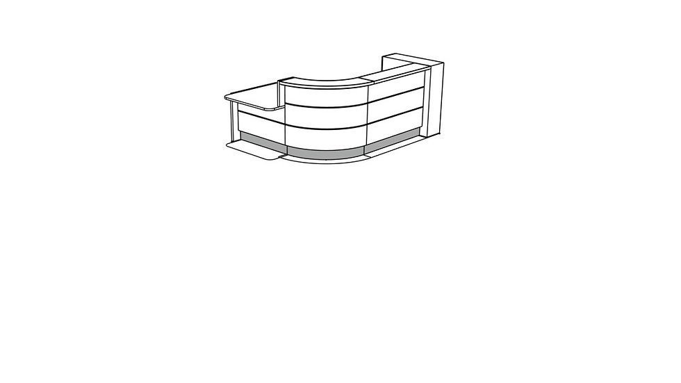VALDE Reception Desk LAV155L