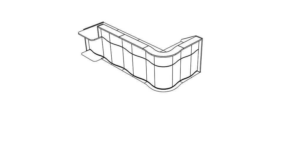 """WAVE Reception Desk LUV481P - 139 6/8"""""""