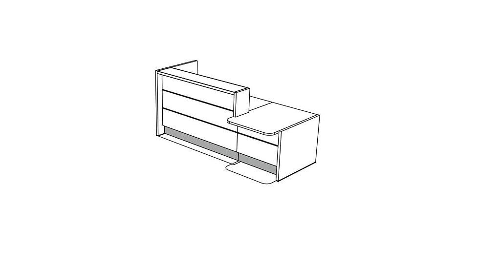 """VALDE Reception Desk LAV211L - 97 1/8"""""""
