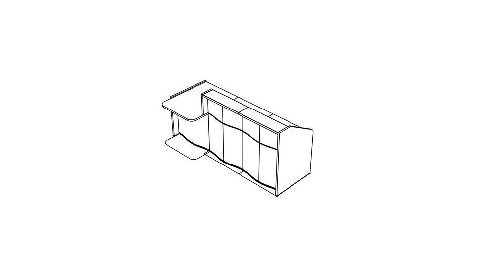 """WAVE Reception Desk LUV291P - 90 6/8"""""""