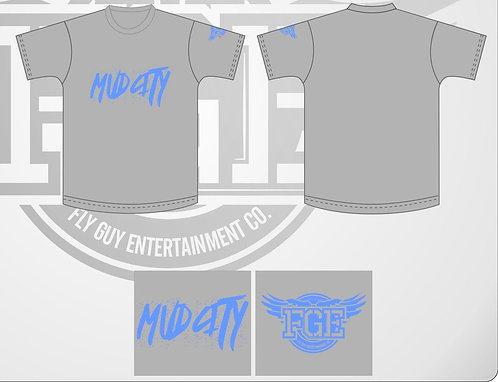 "Grey ""Mud City"" T Shirt"