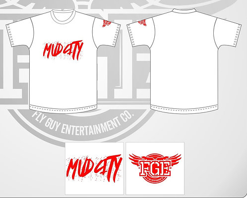 "Red  ""Mud City"" T Shirt"