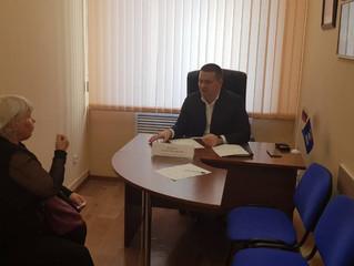 Депутат Андрей Воробьев провел прием граждан