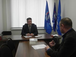 Прием граждан провел председатель Собрания депутатов Энгельсского муниципального района Журик Виктор