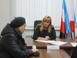 Анастасия Реброва провела прием граждан по личным вопросам