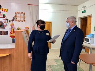 Исполняющий полномочия Секретаря Энгельсского отделения Партии Дмитрий Плеханов посетил школу № 16