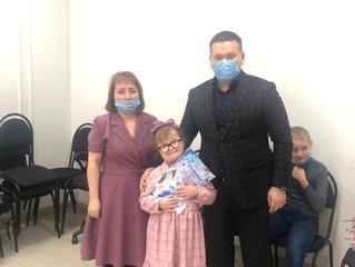 Депутат Андрей Воробьев вручил подарки детям-инвалидам из общественной организации «РАССВЕТ»
