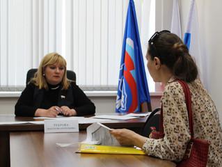 Анастасия Реброва провела личный прием граждан