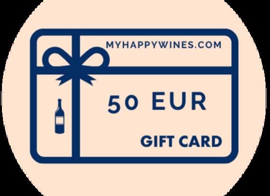 50 EUR Online-Geschenkkarte
