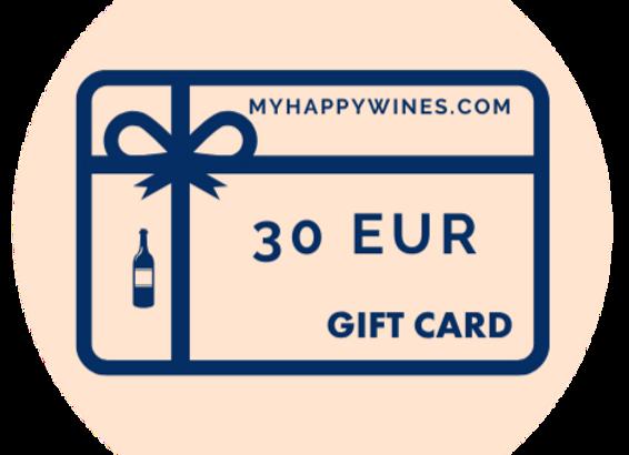 30 EUR Online-Geschenkkarte