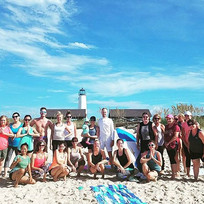 _islandfitsup Amazing beach yoga crew th