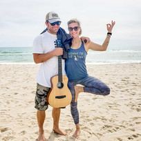 Tunes and dunes! Great yoga sessions tod