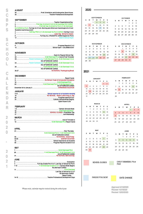 2020-2021 SCBPS Calendar Revised 12_20_2