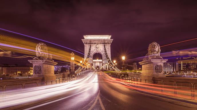 The Chain Bridge (Budapest, Hungary)