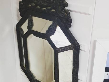 Venetian 19th Century Cushion Mirror