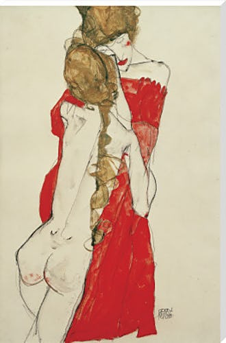 Egon Schiele- Mother and Daughter 1913