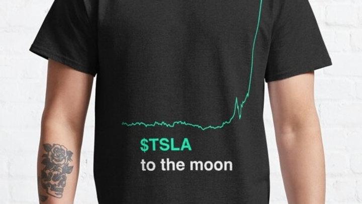Tesla Stock to the Moon 2021 Men T-Shirt