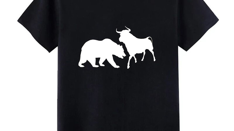 Stock Market Trader Trading Gift T Shirt Men Bull Bear Tee Shirt