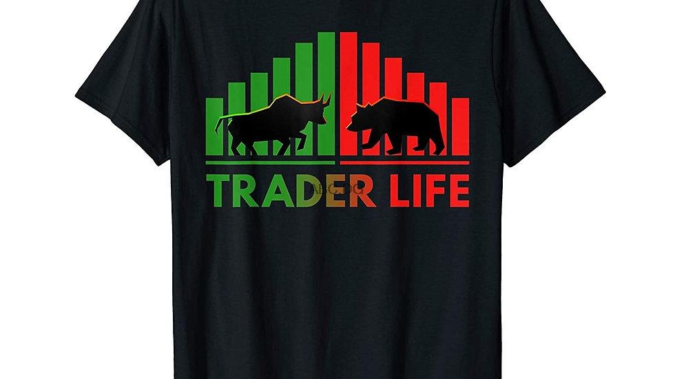 Trader Life Bulls and Bears Stock Market Trading Investors T-Shirt