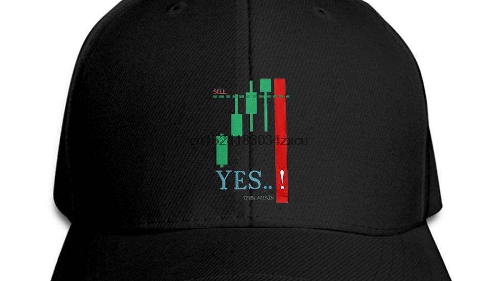 Baseball Cap Stock Market Hat Candles Daytrading Investing