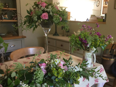 Zingy country flowers