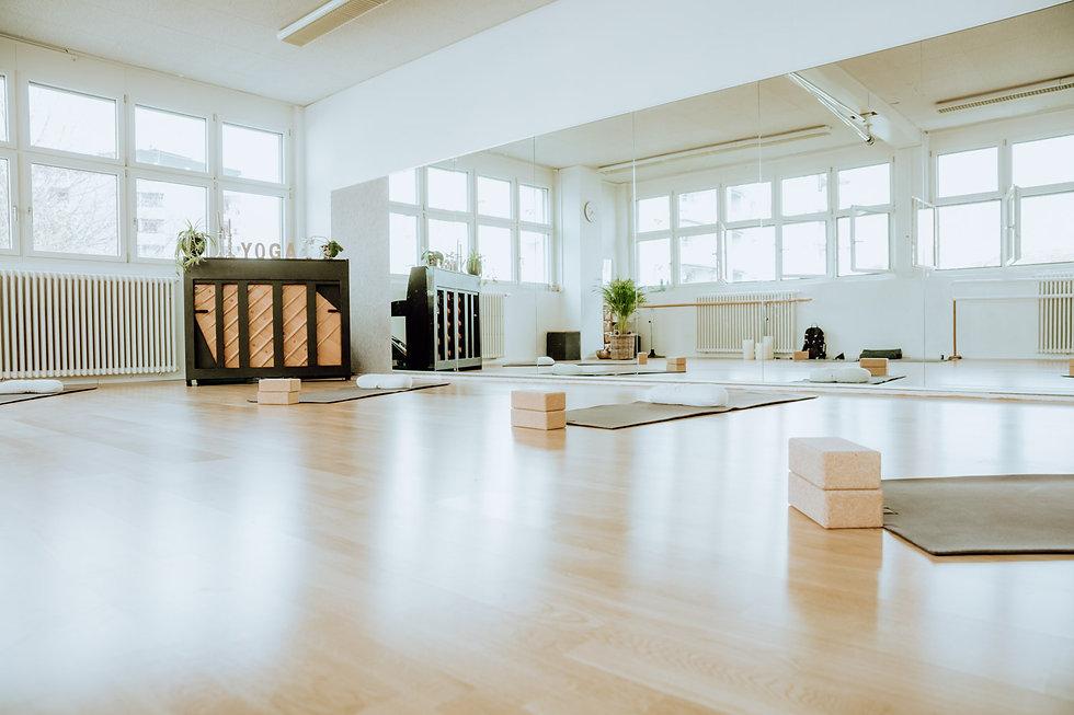 Yogaraum des Yogaateliers