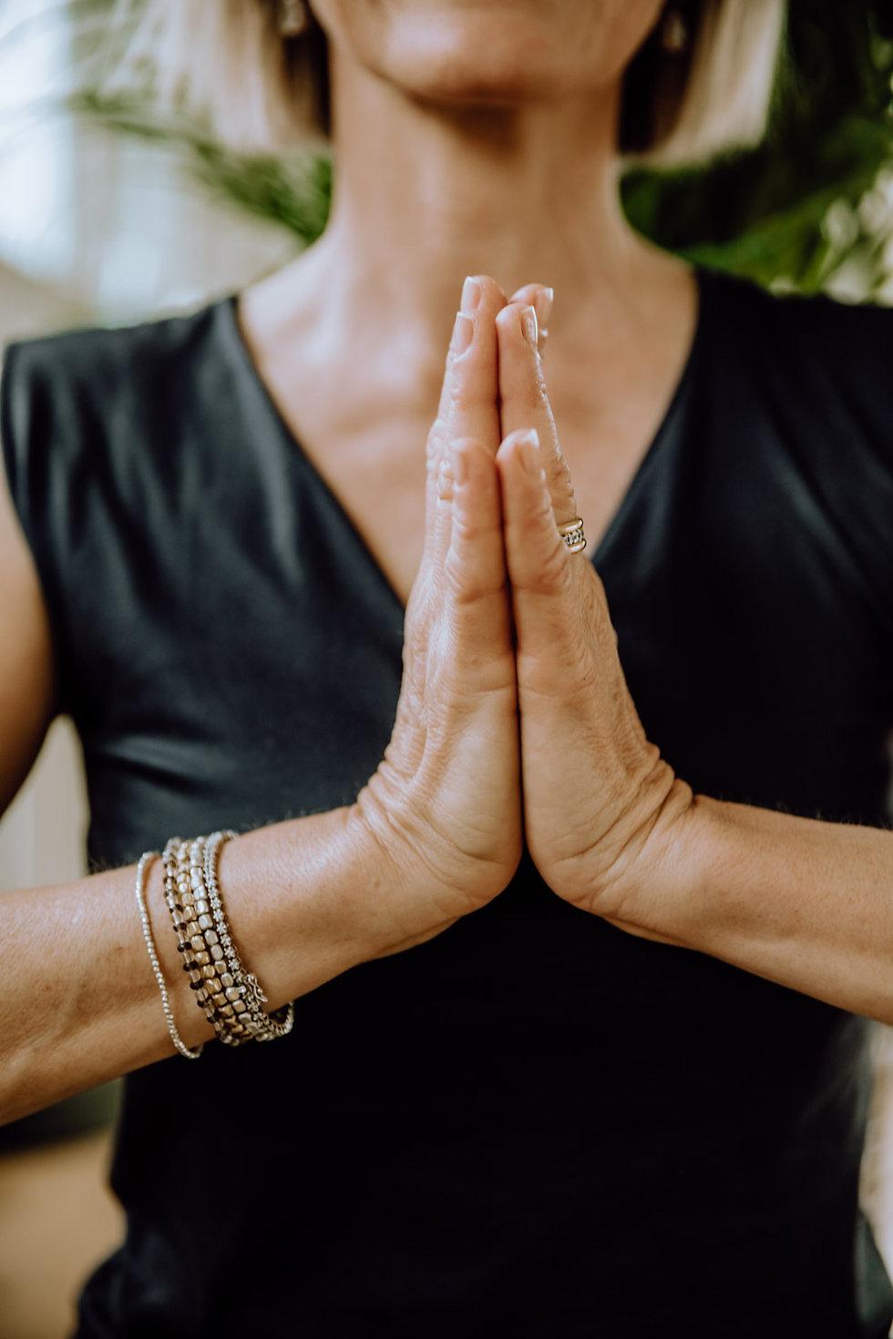 Namaste Hände