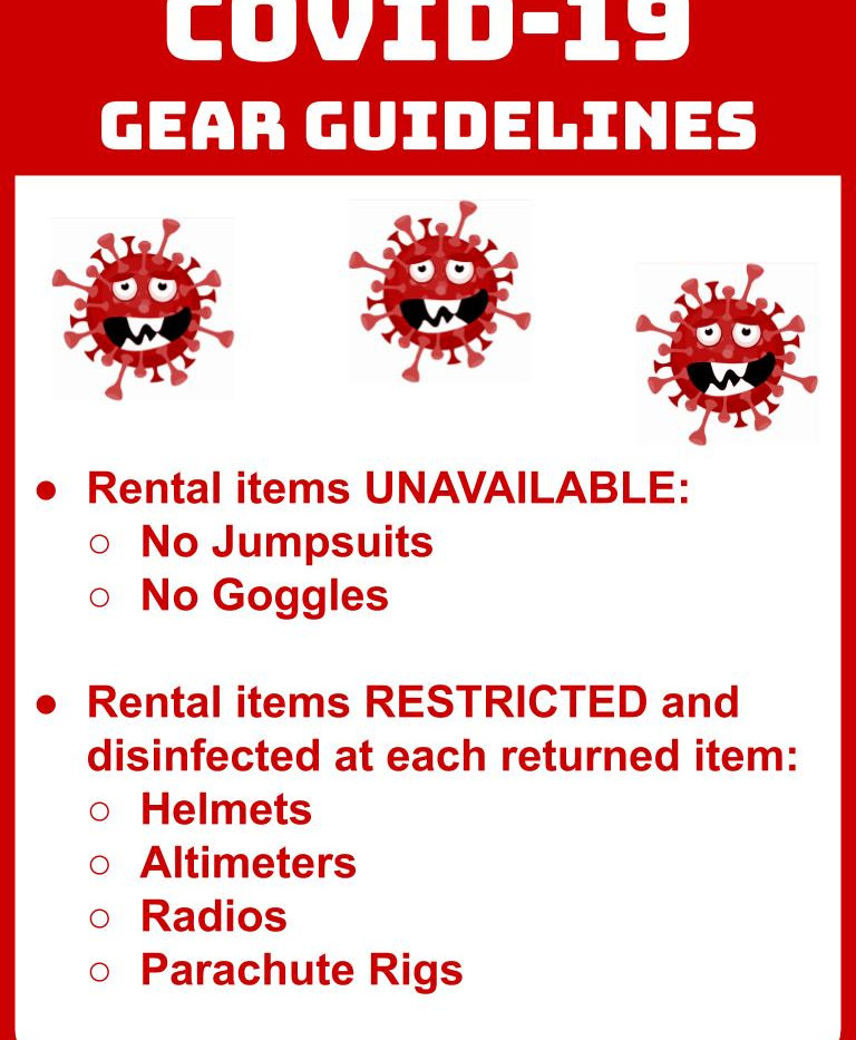 COVID Gear Guidelines Sign
