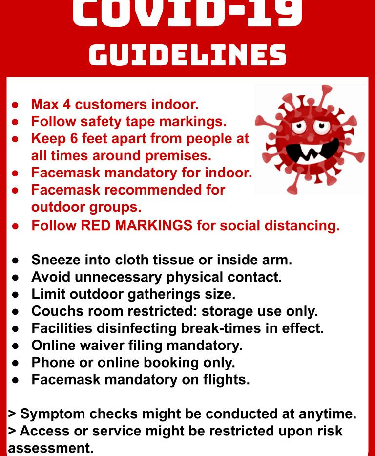 COVID Guidelines Sign
