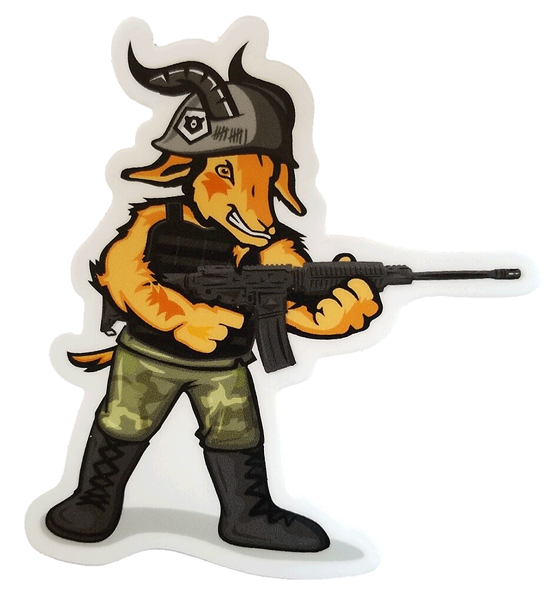 Battle-Goat-Sticker-Bear-Independent