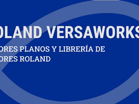 COLORES PLANOS Y LIBRERÍA DE COLORES ROLAND