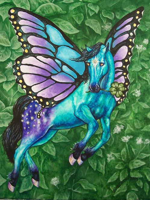 """Faery Horse - Lucky"" Print"