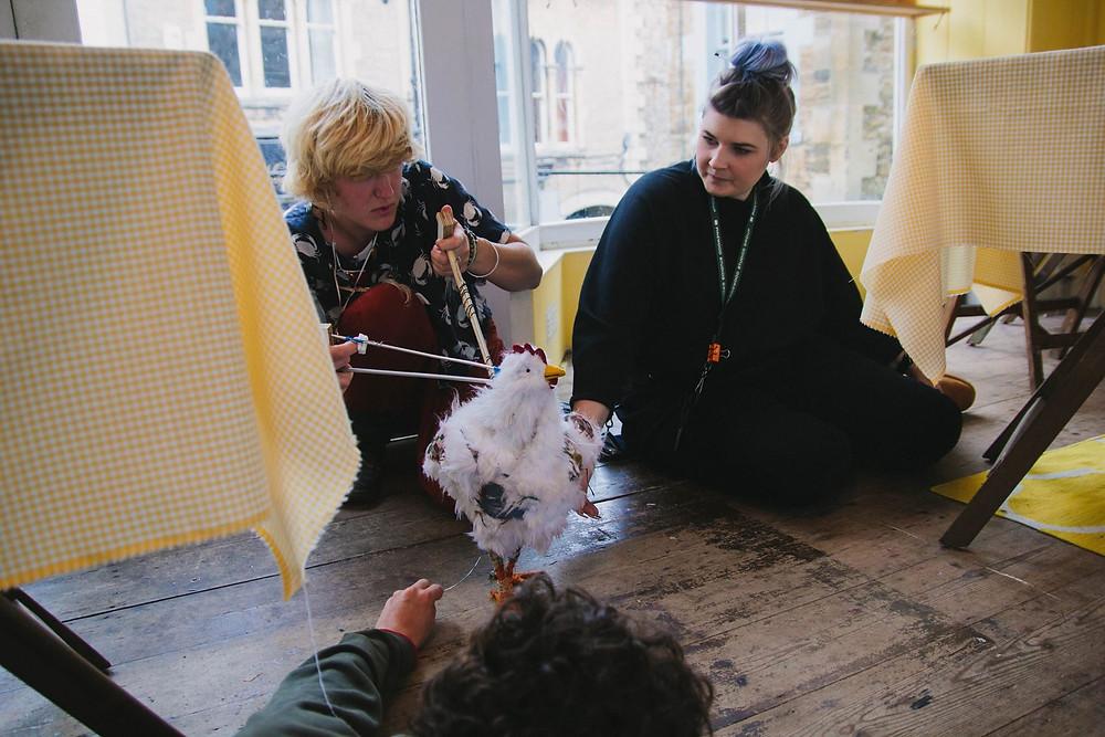 Jess operates with the help of Joscelyn Webb (Costume Designer)