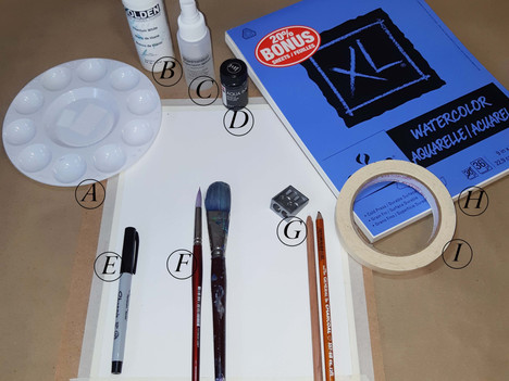 Art Materials for Online Intuitive Art Workshop