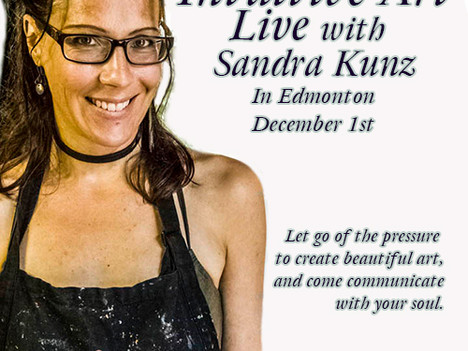 December 1st Live Intuitive Art Workshop in Edmonton