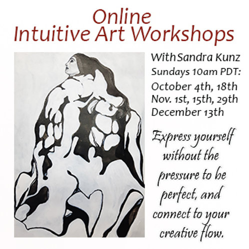 Purchase 3 Online Intuitive Art Workshops for October, November, December