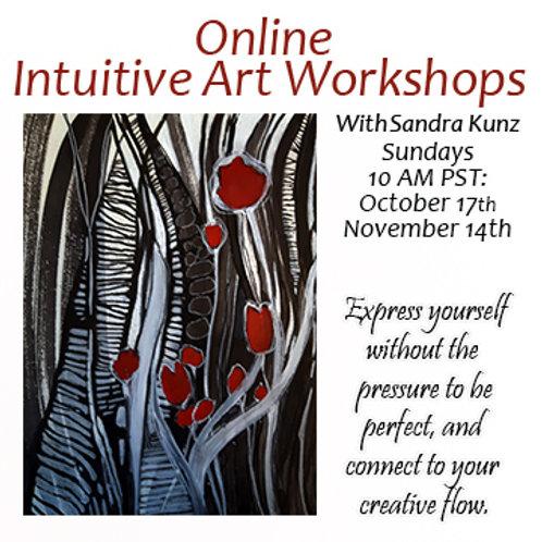 Online Intuitive Art Workshops for Oct. and Nov  2021