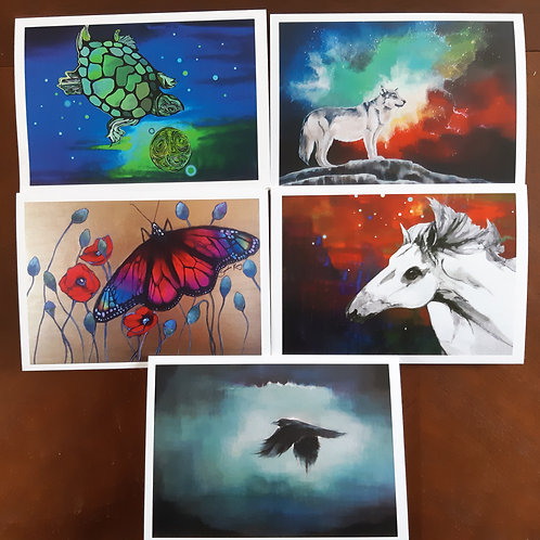 5 art cards by Sandra Kunz