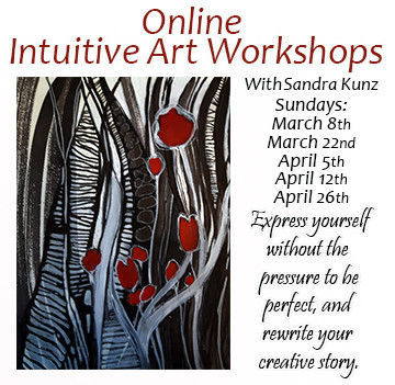 March and April ONLINE Intuitive Art Workshops