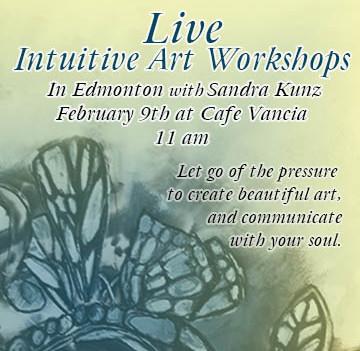 Live Intuitive Art Workshops in Edmonton
