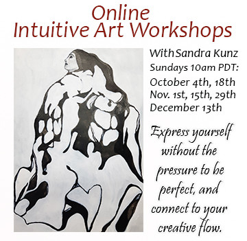 October, November December ONLINE Intuitive Art Workshops