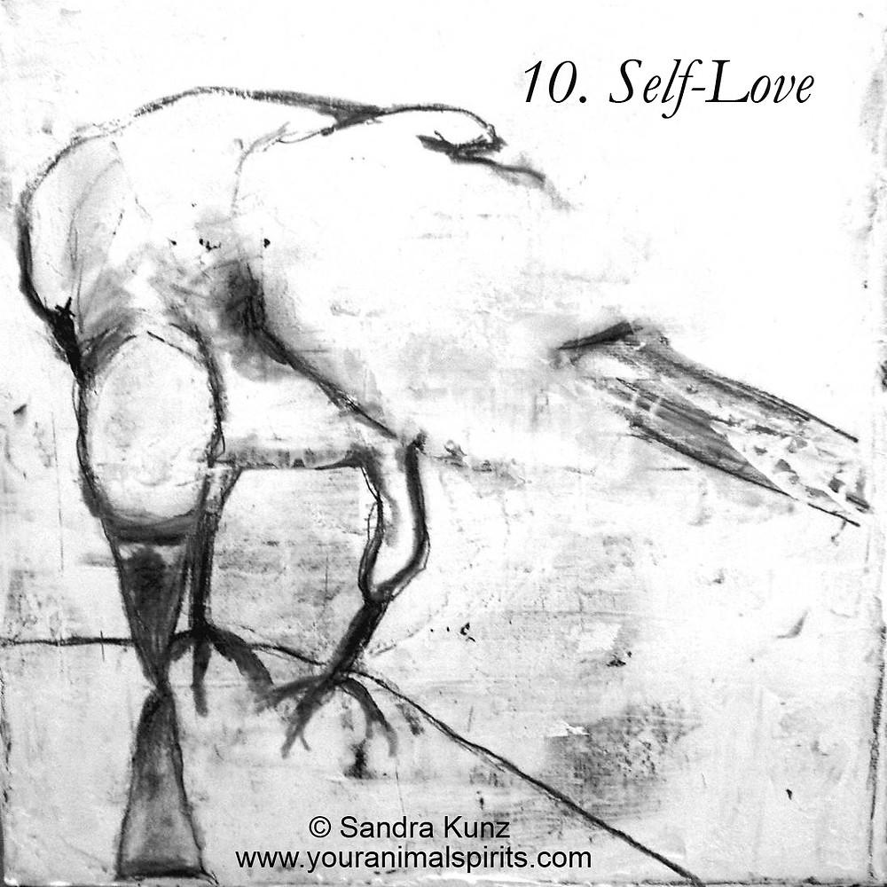 Raven Painting By Sandra Kunz StrokeOfSoul.com
