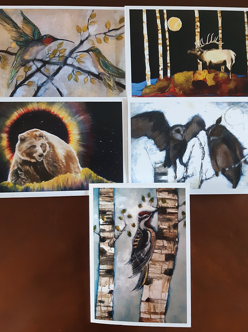 5 art cards (set 2) by Sandra Kunz