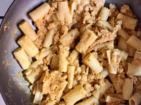 Spicy Vegan Chickpea Pasta