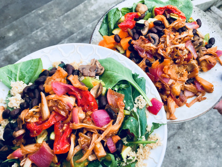 Pulled BBQ jackfruit + other stuff