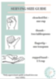 Serving sze guide template