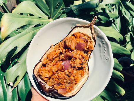 Simple & Sweet Stuffed Eggplants