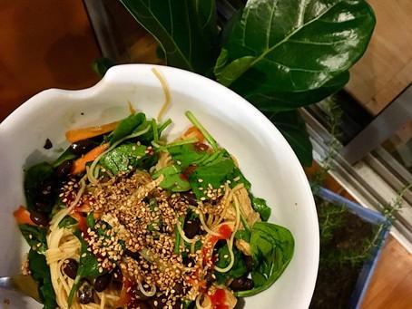Fresh somen noodle salad