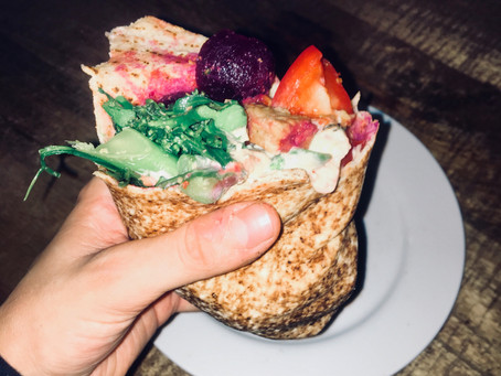 Beat the lunch time hunger with this easy nutritious wrap!